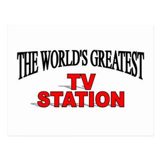The World's Greatest TV Station Postcard