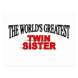 The World's Greatest Twin Sister Postcard
