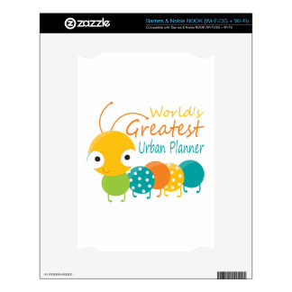 The World's Greatest Urban Planner Decal For NOOK