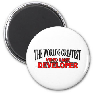 The World's Greatest Video Game Developer 2 Inch Round Magnet