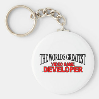 The World's Greatest Video Game Developer Basic Round Button Keychain