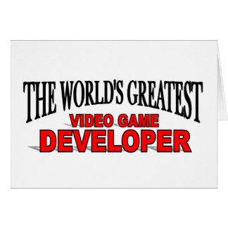 The World's Greatest Video Game Developer Card