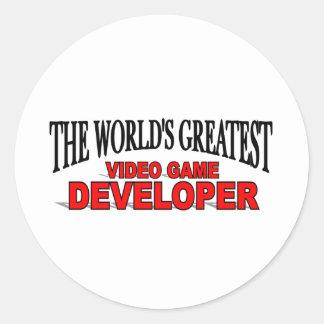 The World's Greatest Video Game Developer Classic Round Sticker
