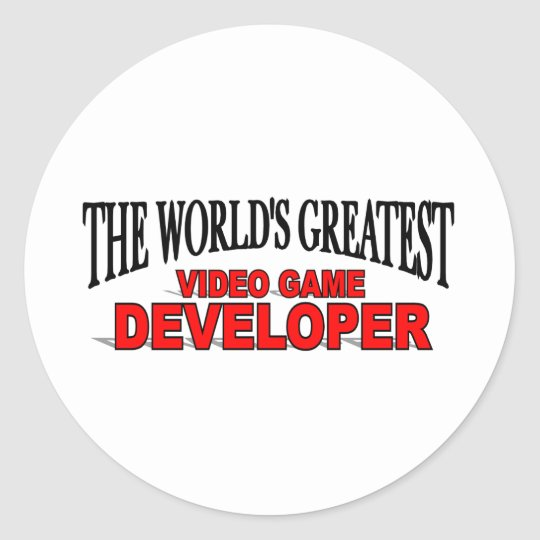The World's Greatest Video Game Developer Classic Round Sticker