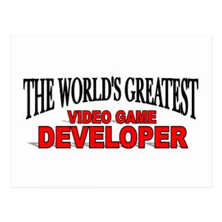 The World's Greatest Video Game Developer Postcard