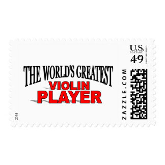 The World's Greatest Violin Player Postage Stamp