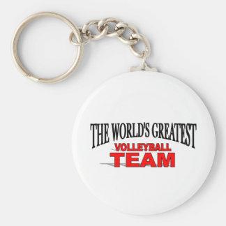 The World's Greatest Volleyball Team Basic Round Button Keychain