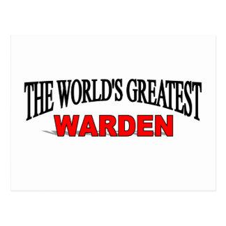 The World's Greatest Warden Postcard