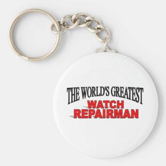 The World's Greatest Watch Repairman Basic Round Button Keychain