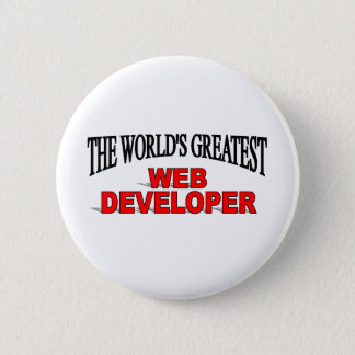 The World's Greatest Web Developer Pinback Button