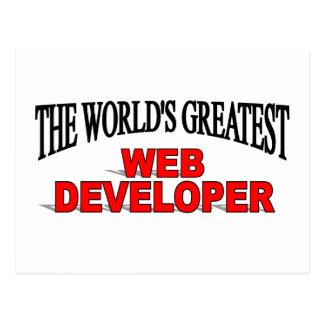 The World's Greatest Web Developer Postcard