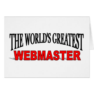 The World's Greatest Webmaster Card
