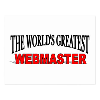 The World's Greatest Webmaster Postcard