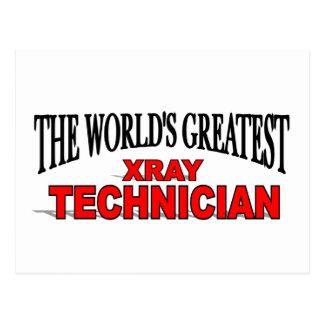The World's Greatest Xray Technician Postcard