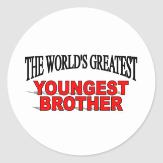 The World's Greatest Youngest Brother Classic Round Sticker