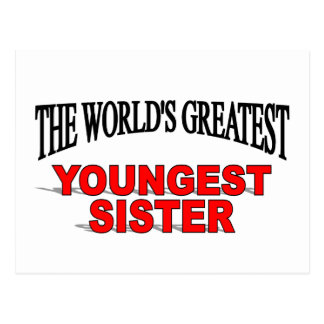 The World's Greatest Youngest Sister Postcard