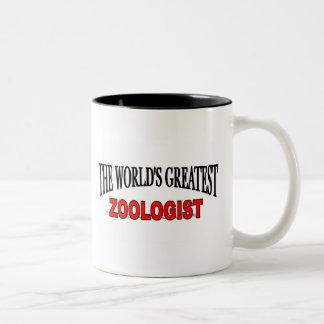 The World's Greatest Zoologist Two-Tone Coffee Mug