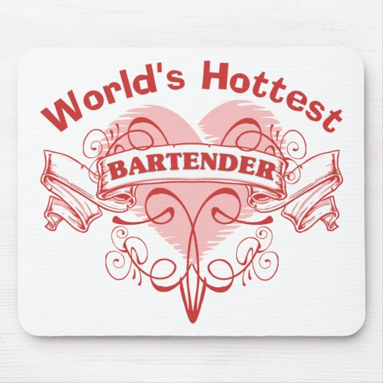 The World's Hottest Bartender Mouse Pad