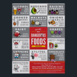 """The World&#39;s Most Dangerous Foods For Dogs Poster<br><div class=""""desc"""">By Lili Chin &amp; Design Lab Creative Studio. Read about this poster at: http://pawcurious.com/2013/09/worlds-most-adorable-degenerate-produce/</div>"""