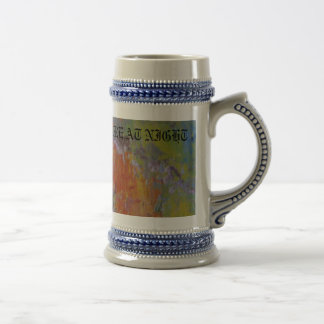 THE WORLDS  PICTURE AT NIGHT BEER STEIN