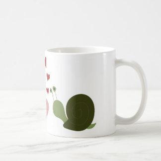 The worm and the snail coffee mug