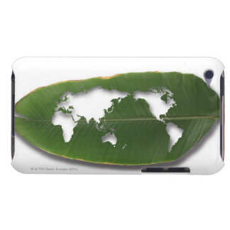 The worm-eaten leaf world map iPod Case-Mate case