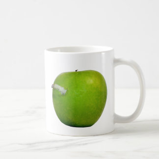 The worm in the apple classic white coffee mug