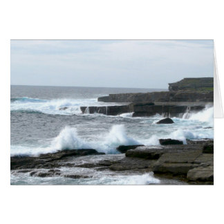 The Wormhole, Atlantic side of Inis Mor Greeting Card