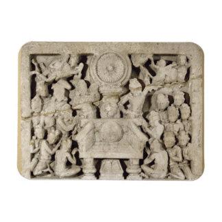 The worship of the Buddhist symbols, Amaravati (li Magnet