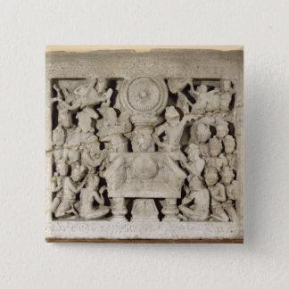 The worship of the Buddhist symbols, Amaravati (li Pinback Button