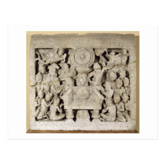 The worship of the Buddhist symbols, Amaravati (li Postcard