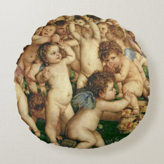 The Worship of Venus, 1519 Round Pillow