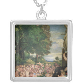 The Worship of Venus, 1519 Silver Plated Necklace
