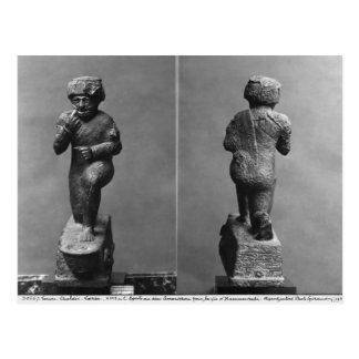 The worshipper from Larsa, front and back view Postcard