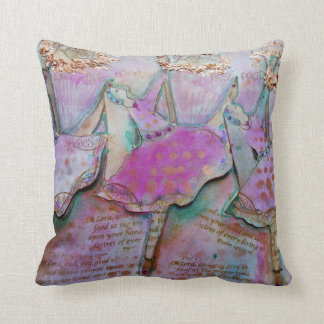 The Worshippers Throw Pillow