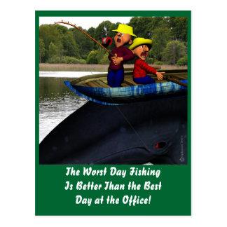 The Worst Day Fishing Birthday Postcard