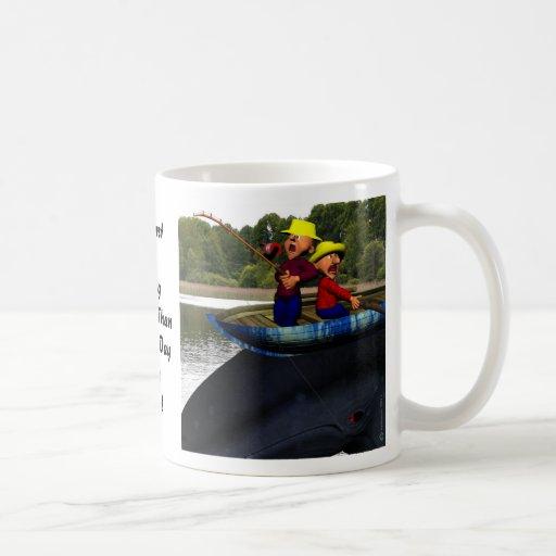 The Worst Day Fishing Mugs