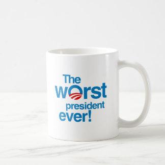 The worst president ever classic white coffee mug