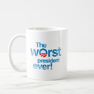 The worst president ever Faded.png Classic White Coffee Mug