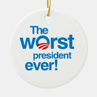 The worst president ever ornament