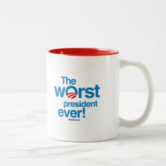 The worst president ever Two-Tone coffee mug