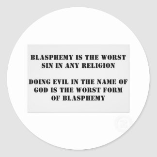 The worst sin sticker
