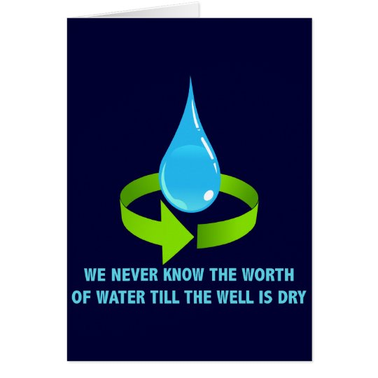 THE WORTH OF WATER CARD