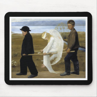 The Wounded Angel Mouse Pad