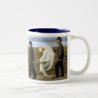 The Wounded Angel Two-Tone Coffee Mug