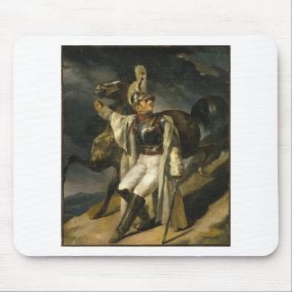 The Wounded Cuirassier by Theodore Gericault Mouse Pad