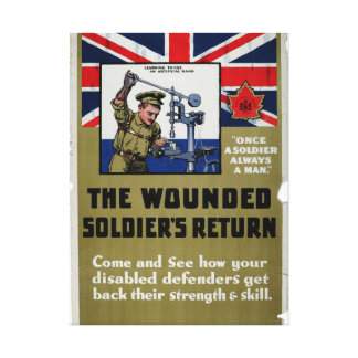The wounded Soldier's Return_Propaganda Poster Canvas Print