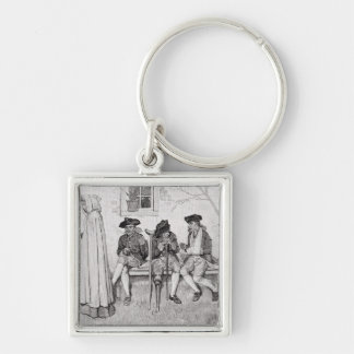 The Wounded Soldiers Sat Along the Wall' Keychain