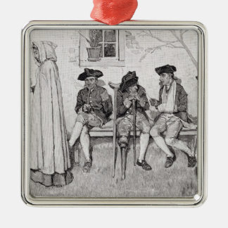 The Wounded Soldiers Sat Along the Wall' Metal Ornament