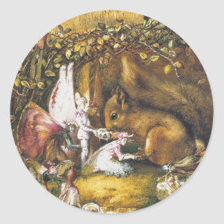 The Wounded Squirrel Classic Round Sticker